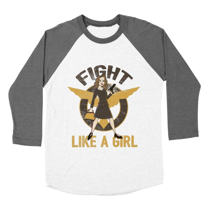 Fight Like A Girl Women's Baseball Triblend T-Shirt by doodleheaddee's Artist Shop