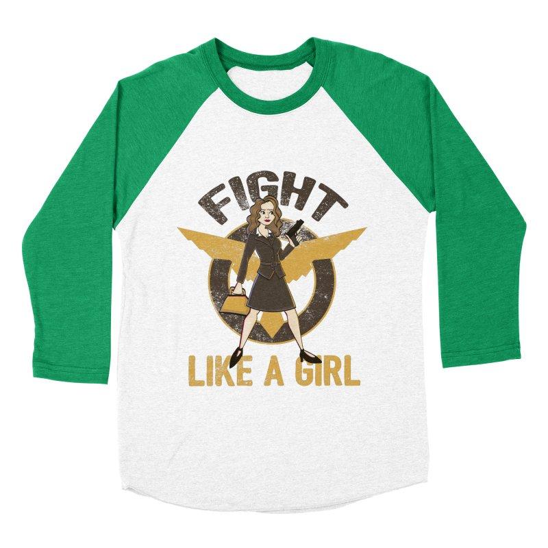 Fight Like A Girl Women's Baseball Triblend T-Shirt by doodleheaddee's Artist Shop