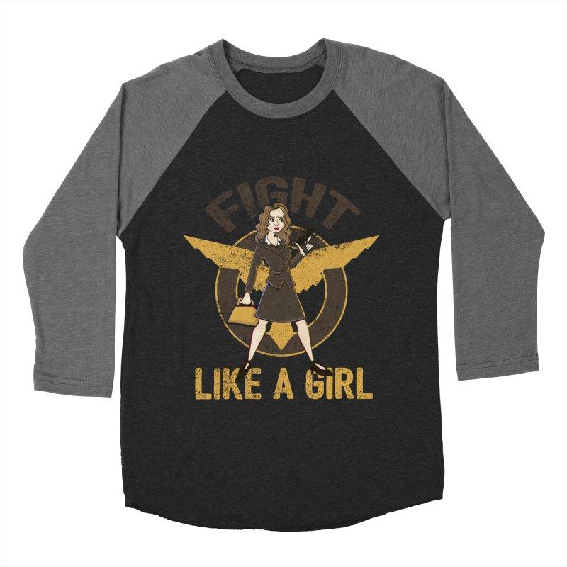 Fight Like A Girl Men's Baseball Triblend T-Shirt by doodleheaddee's Artist Shop