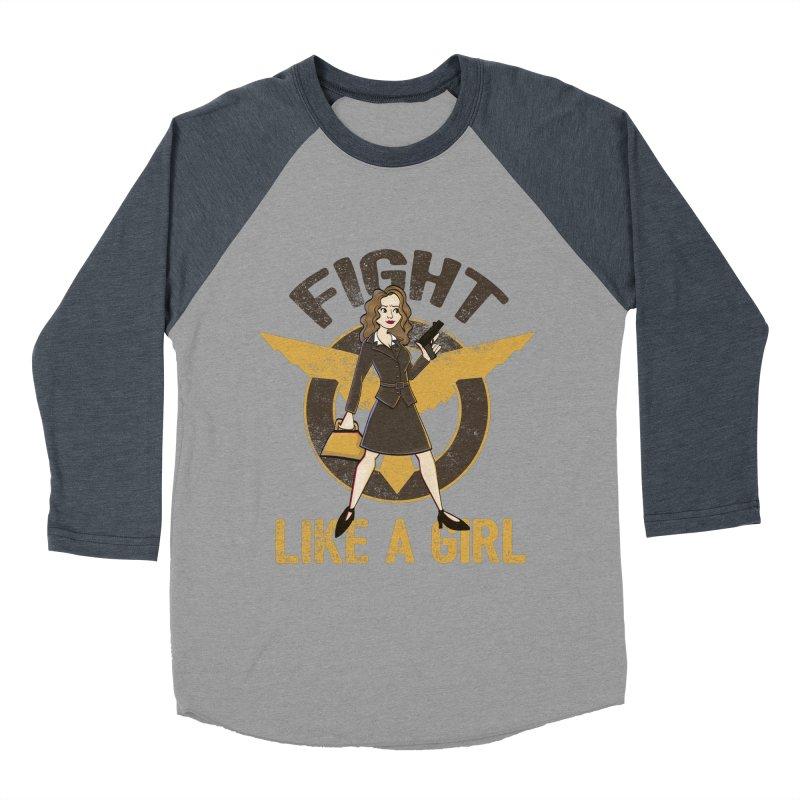 Fight Like A Girl Men's Baseball Triblend Longsleeve T-Shirt by doodleheaddee's Artist Shop