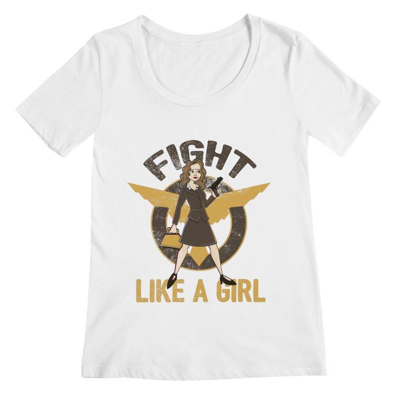 Fight Like A Girl Women's Scoopneck by doodleheaddee's Artist Shop