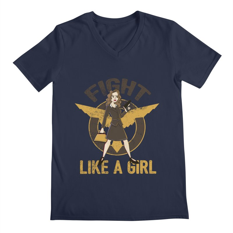 Fight Like A Girl Men's V-Neck by doodleheaddee's Artist Shop