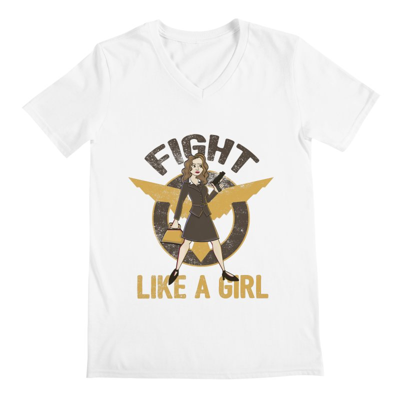 Fight Like A Girl Men's V-Neck by doodleheaddee's Artist Shop