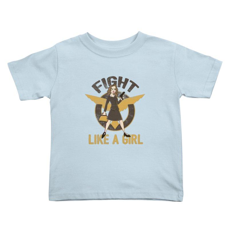 Fight Like A Girl Kids Toddler T-Shirt by doodleheaddee's Artist Shop