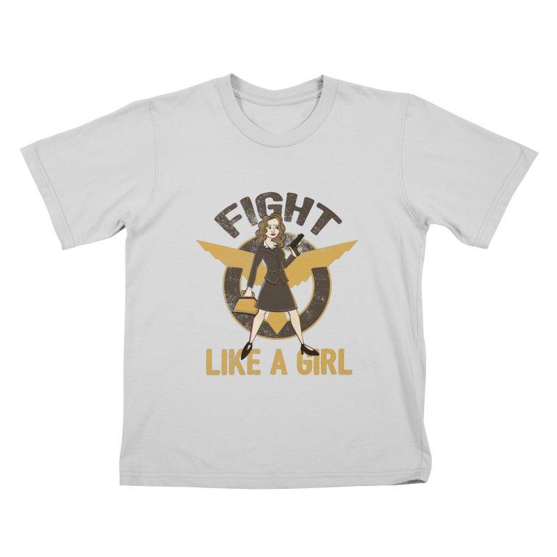 Fight Like A Girl Kids T-Shirt by doodleheaddee's Artist Shop