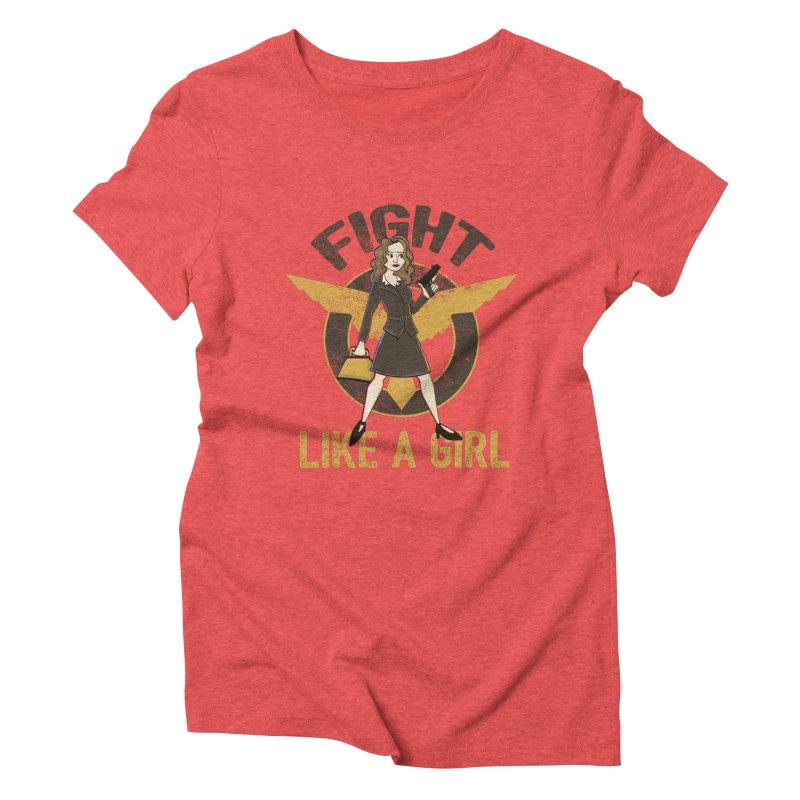 Fight Like A Girl Women's Triblend T-shirt by doodleheaddee's Artist Shop