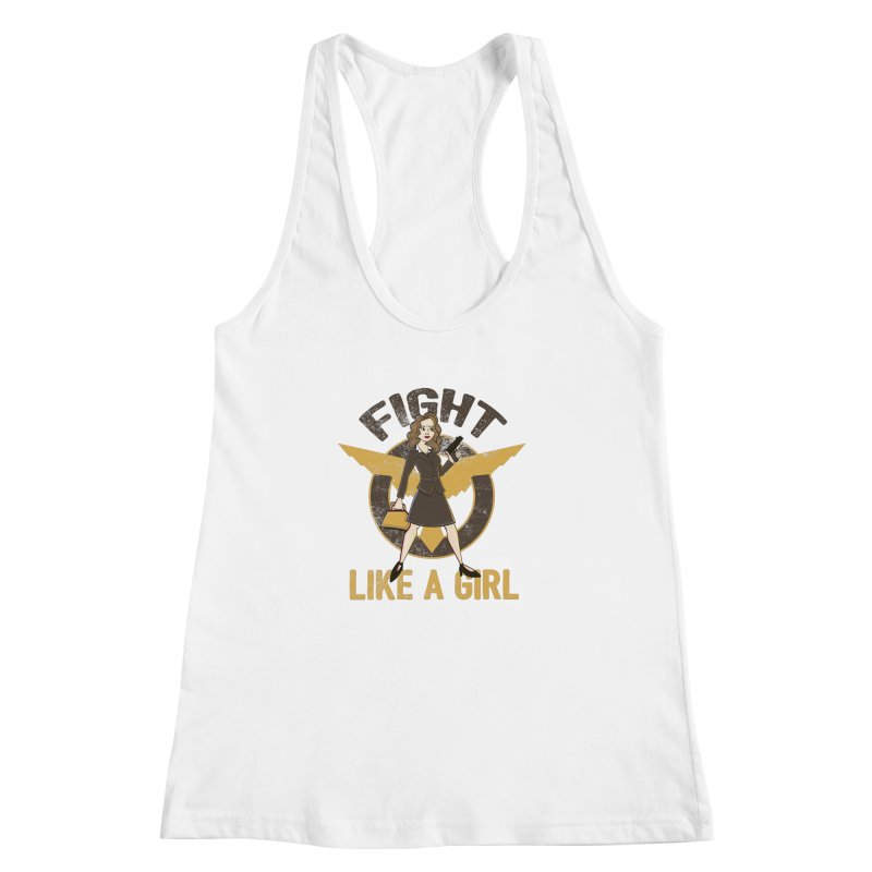 Fight Like A Girl Women's Racerback Tank by doodleheaddee's Artist Shop