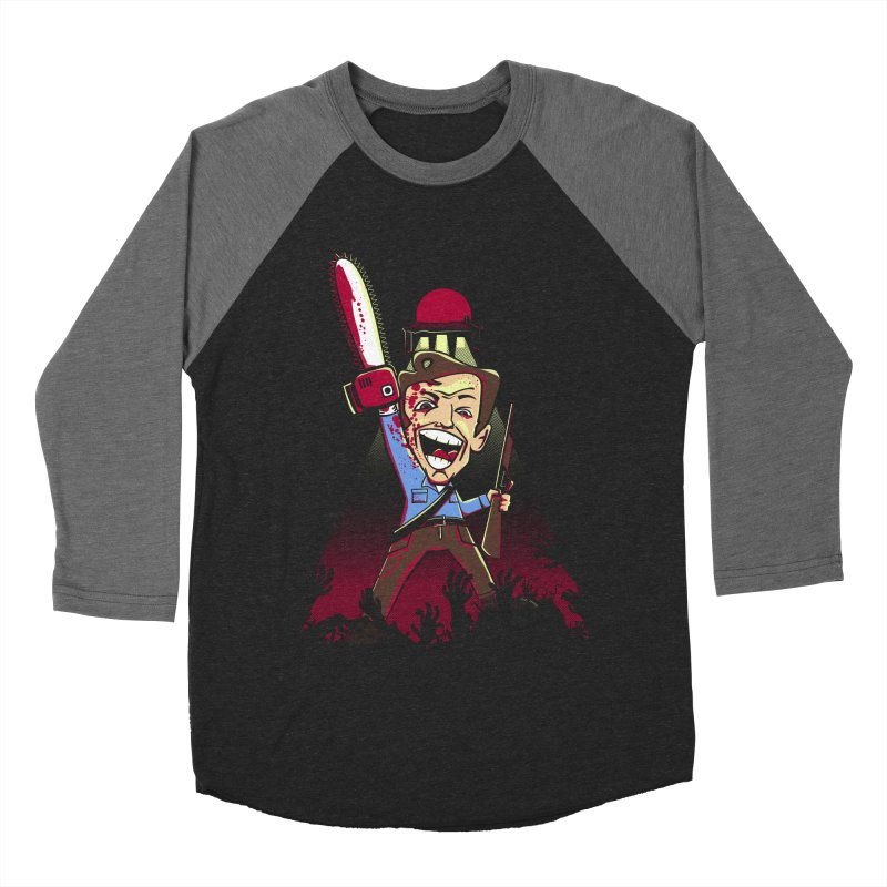 This is my Chainsaw Women's Baseball Triblend T-Shirt by doodleheaddee's Artist Shop