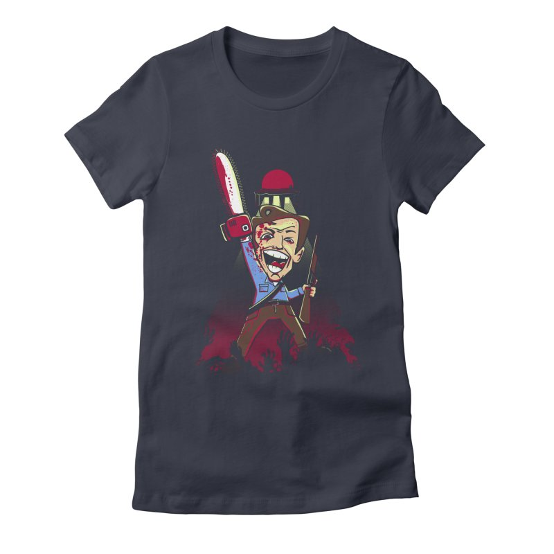 This is my Chainsaw Women's Fitted T-Shirt by doodleheaddee's Artist Shop
