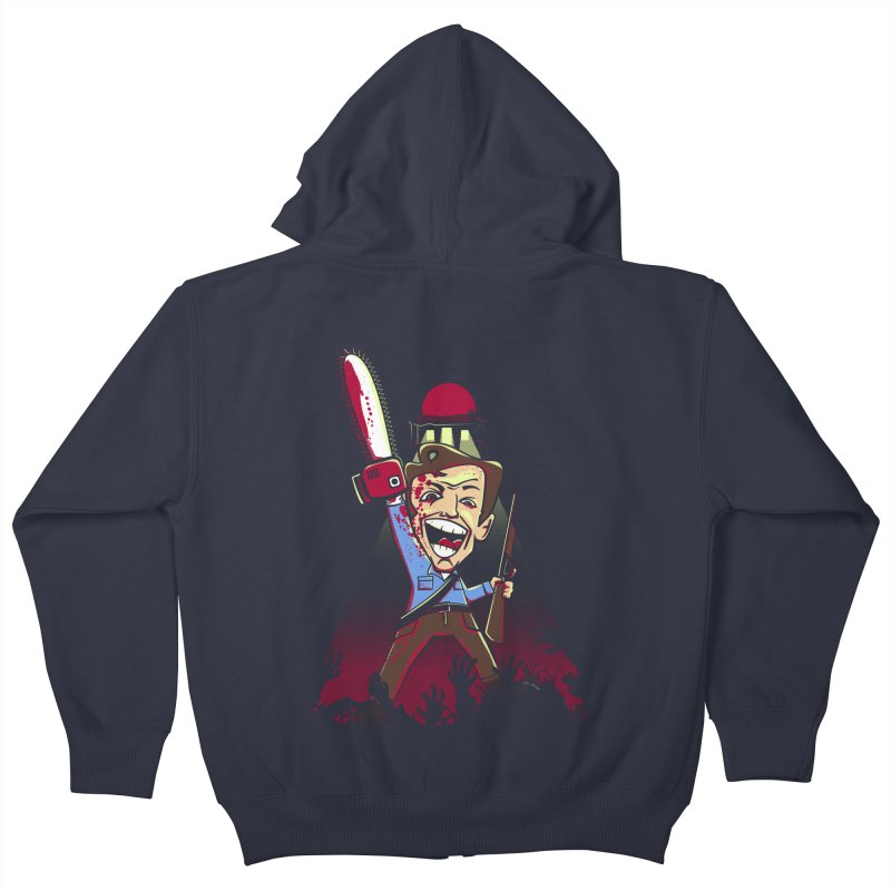 This is my Chainsaw Kids Zip-Up Hoody by doodleheaddee's Artist Shop