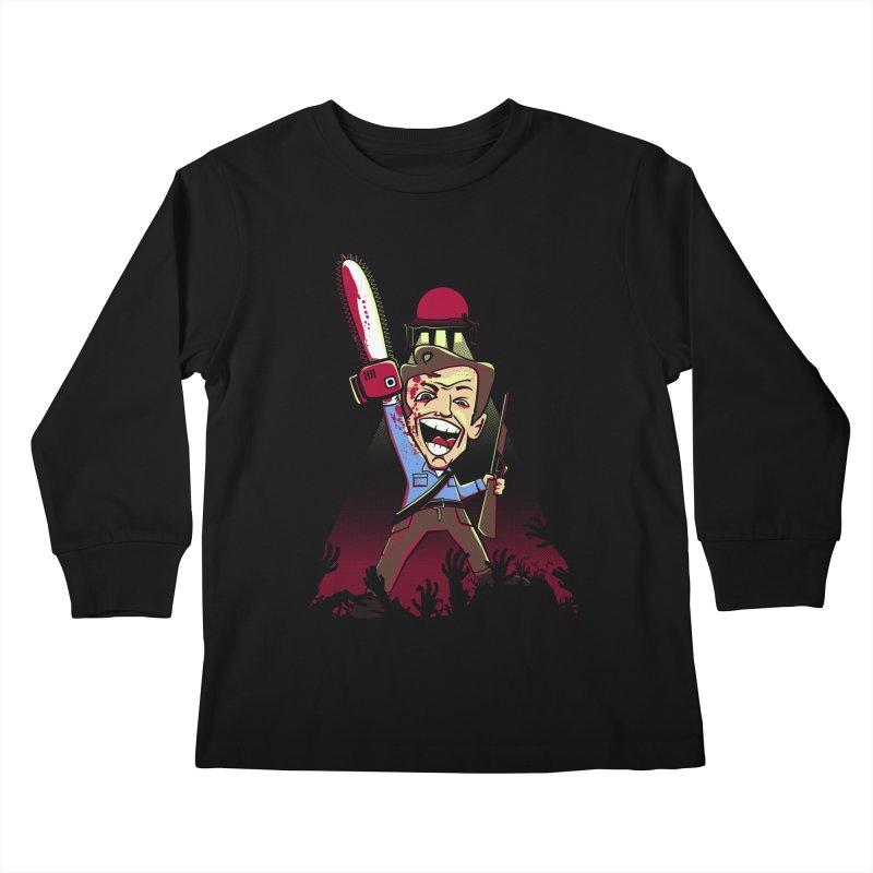 This is my Chainsaw Kids Longsleeve T-Shirt by doodleheaddee's Artist Shop