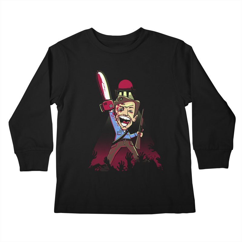 This is my Chainsaw Kids Longsleeve T-Shirt by doodleheaddee's Artist Shop