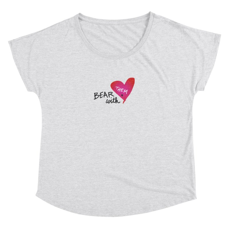 Bear with Them in Women's Dolman Heather White by Doodles Invigorate's Artist Shop
