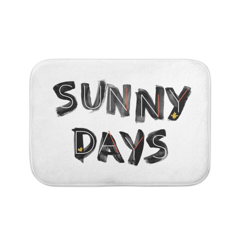 Sunny Days Home Bath Mat by Doodles Invigorate's Artist Shop