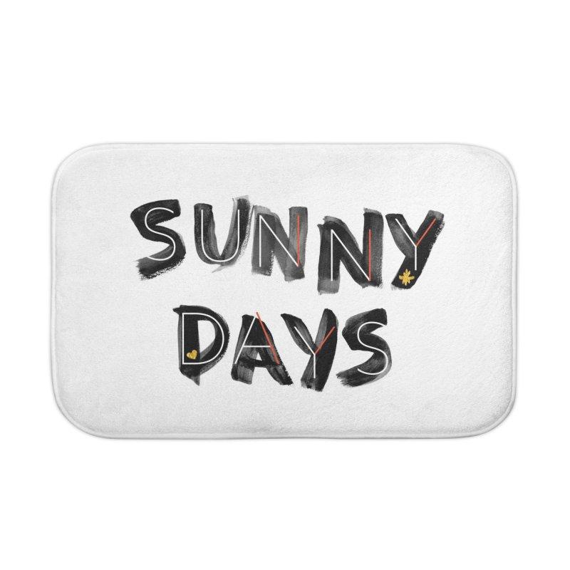 Sunny Days Home Bath Mat by Doodles Invigorate's Artist Shop
