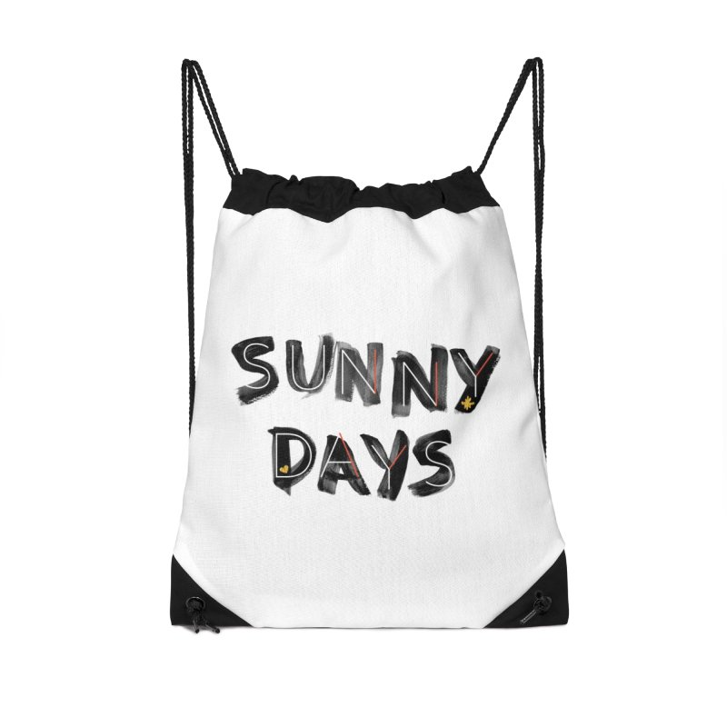 Sunny Days Accessories Drawstring Bag Bag by Doodles Invigorate's Artist Shop