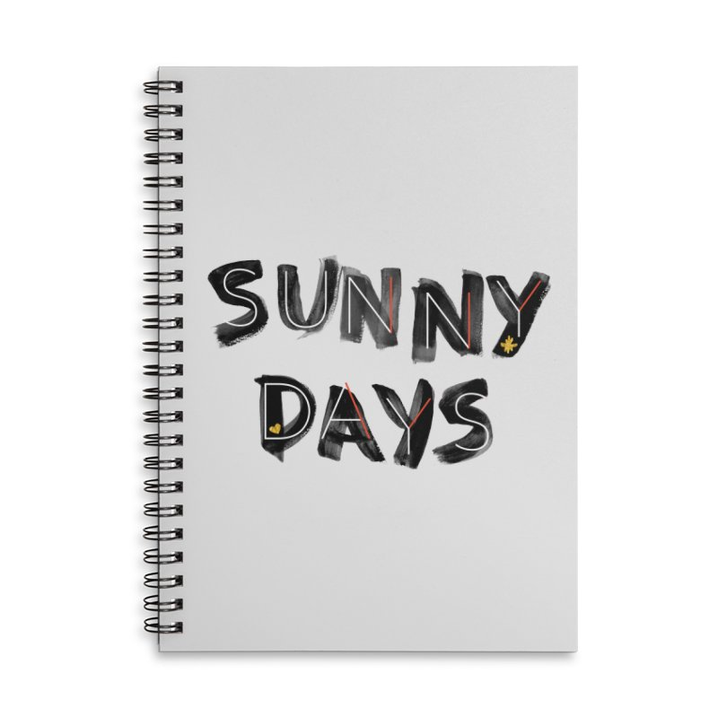 Sunny Days Accessories Lined Spiral Notebook by Doodles Invigorate's Artist Shop