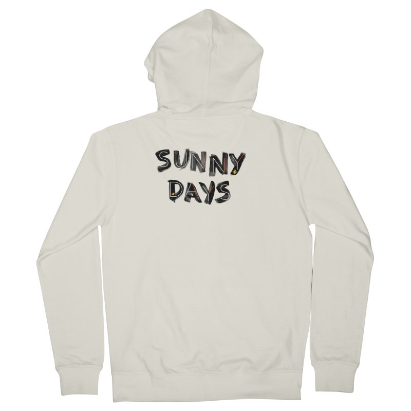 Sunny Days Men's French Terry Zip-Up Hoody by Doodles Invigorate's Artist Shop