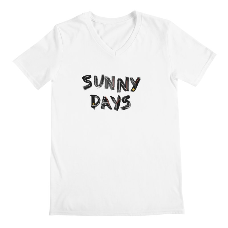 Sunny Days Men's V-Neck by Doodles Invigorate's Artist Shop