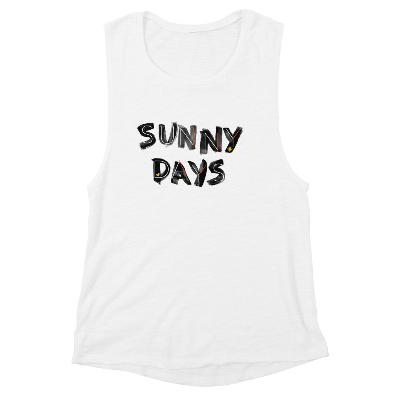 Sunny Days Women's Muscle Tank by Doodles Invigorate's Artist Shop