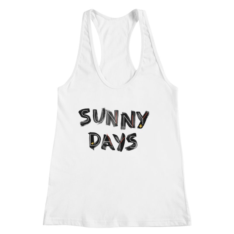 Sunny Days Women's Racerback Tank by Doodles Invigorate's Artist Shop