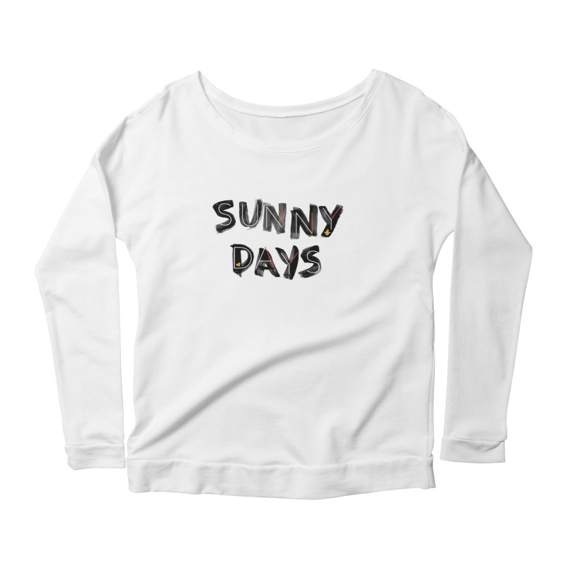 Sunny Days Women's Scoop Neck Longsleeve T-Shirt by Doodles Invigorate's Artist Shop