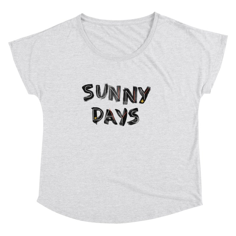 Sunny Days Women's Scoop Neck by Doodles Invigorate's Artist Shop