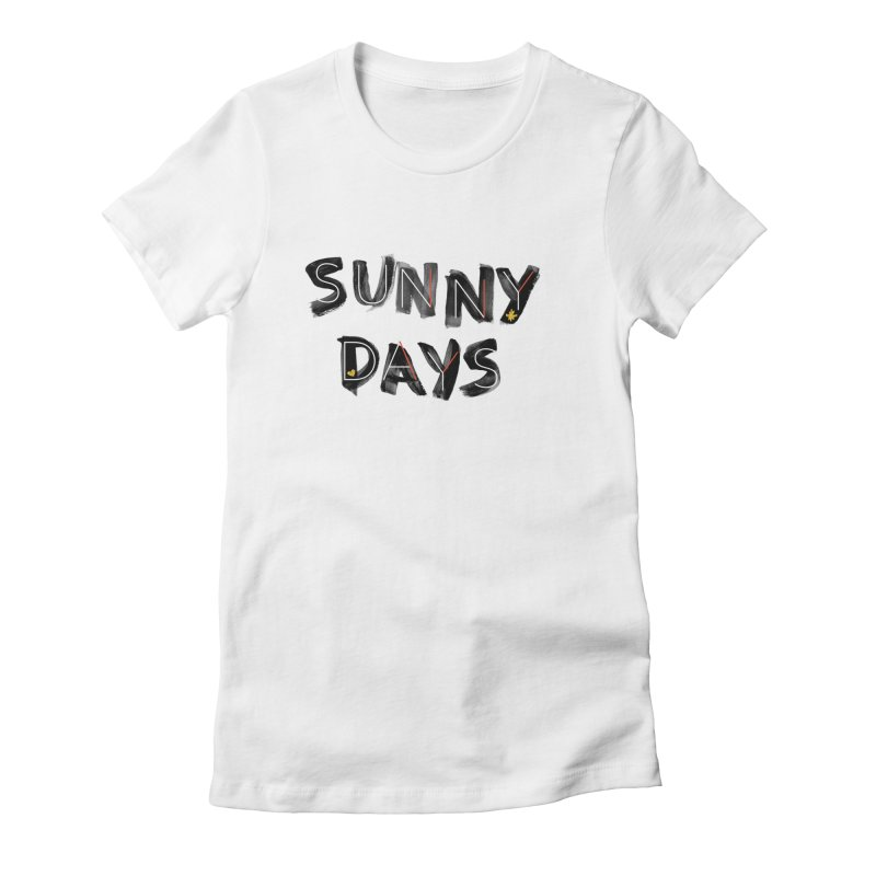 Sunny Days Women's Fitted T-Shirt by Doodles Invigorate's Artist Shop