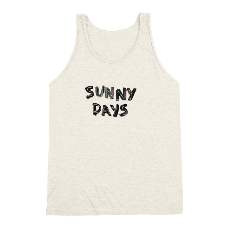 Sunny Days Men's Triblend Tank by Doodles Invigorate's Artist Shop