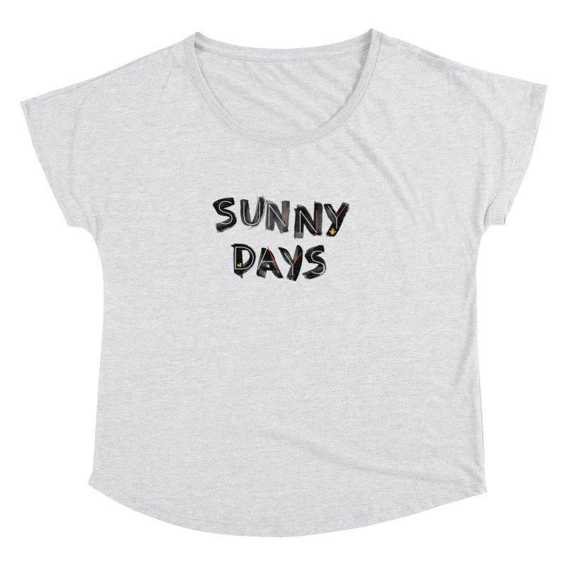 Sunny Days Women's Scoop Neck by Doodles Invigorate's Artist Shop