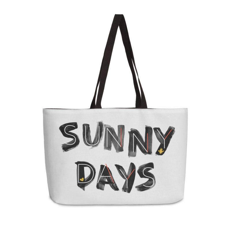Sunny Days Accessories Weekender Bag Bag by Doodles Invigorate's Artist Shop