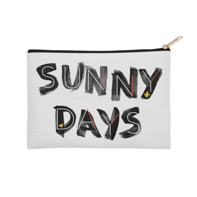 Sunny Days Accessories Zip Pouch by Doodles Invigorate's Artist Shop