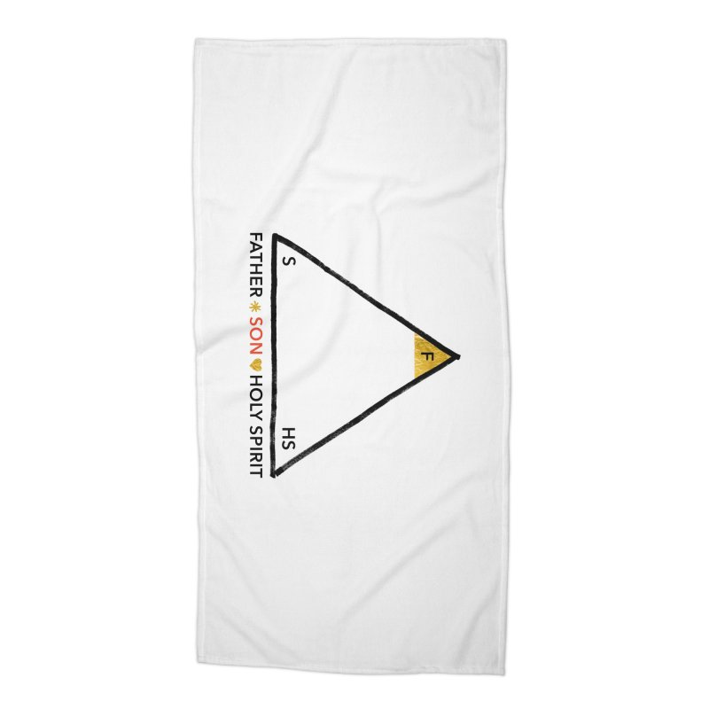 Father. Son. Holy Spirit. Accessories Beach Towel by Doodles Invigorate's Artist Shop