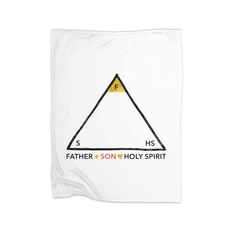 Father. Son. Holy Spirit. Home Fleece Blanket Blanket by Doodles Invigorate's Artist Shop