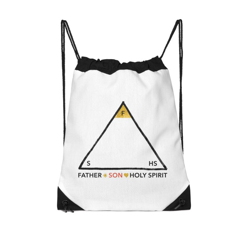 Father. Son. Holy Spirit. Accessories Drawstring Bag Bag by Doodles Invigorate's Artist Shop