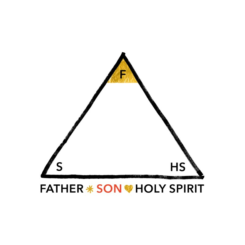 Father. Son. Holy Spirit. Men's T-Shirt by Doodles Invigorate's Artist Shop
