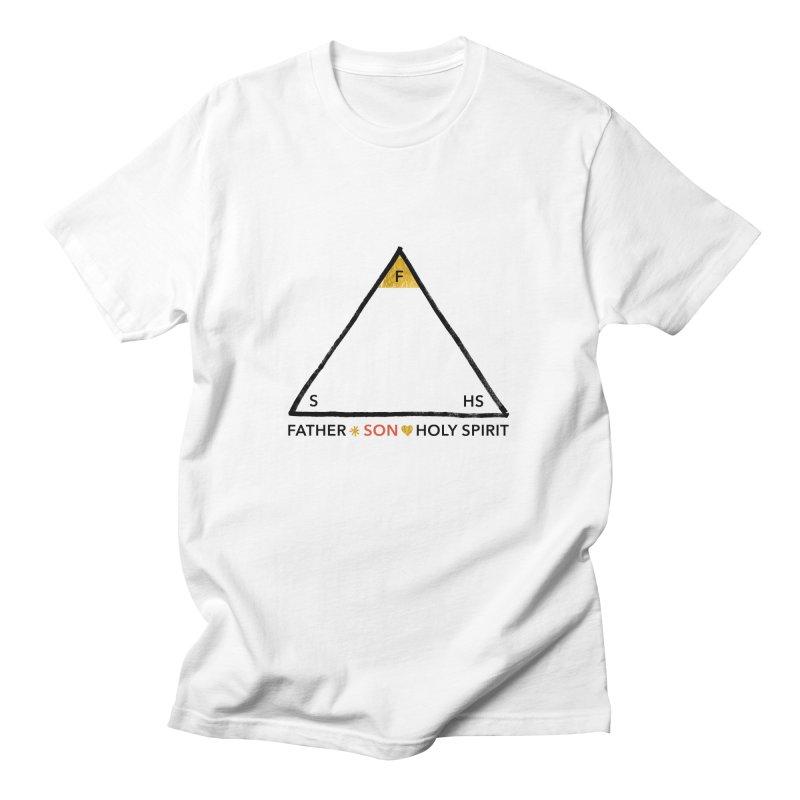 Father. Son. Holy Spirit. Men's T-Shirt by Doodles Invigorate's Artist Shop