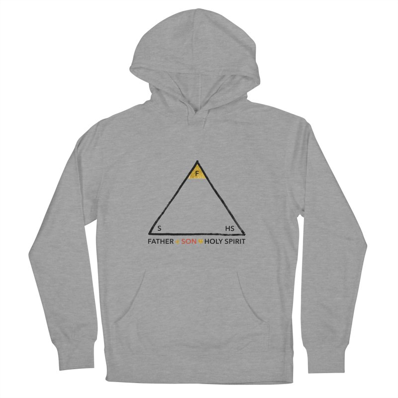 Father. Son. Holy Spirit. Men's French Terry Pullover Hoody by Doodles Invigorate's Artist Shop