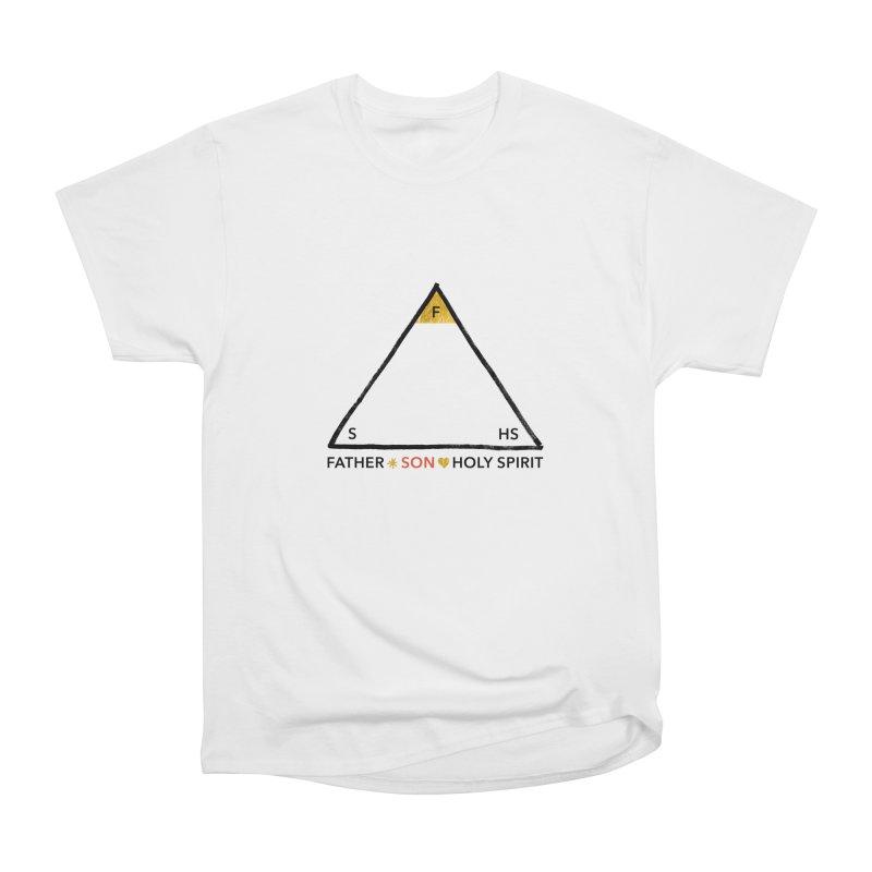 Father. Son. Holy Spirit. Women's Heavyweight Unisex T-Shirt by Doodles Invigorate's Artist Shop