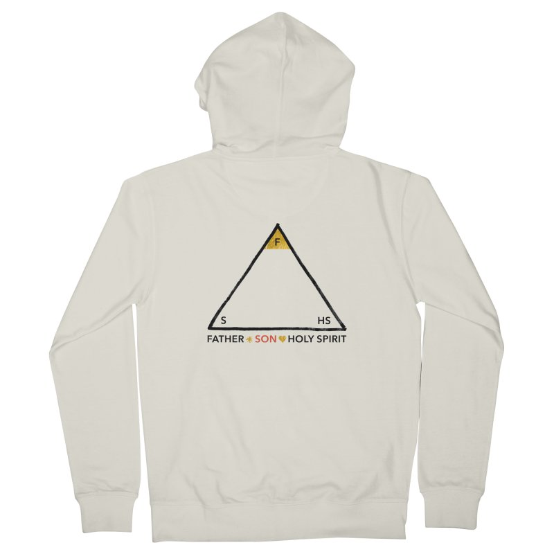 Father. Son. Holy Spirit. Men's French Terry Zip-Up Hoody by Doodles Invigorate's Artist Shop