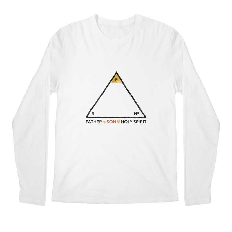 Father. Son. Holy Spirit. Men's Regular Longsleeve T-Shirt by Doodles Invigorate's Artist Shop