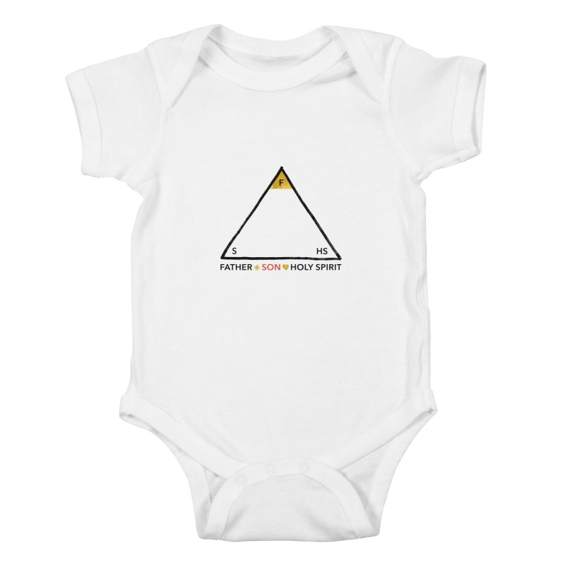 Father. Son. Holy Spirit. Kids Baby Bodysuit by Doodles Invigorate's Artist Shop