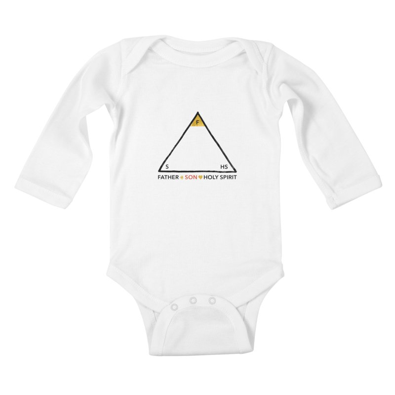 Father. Son. Holy Spirit. Kids Baby Longsleeve Bodysuit by Doodles Invigorate's Artist Shop