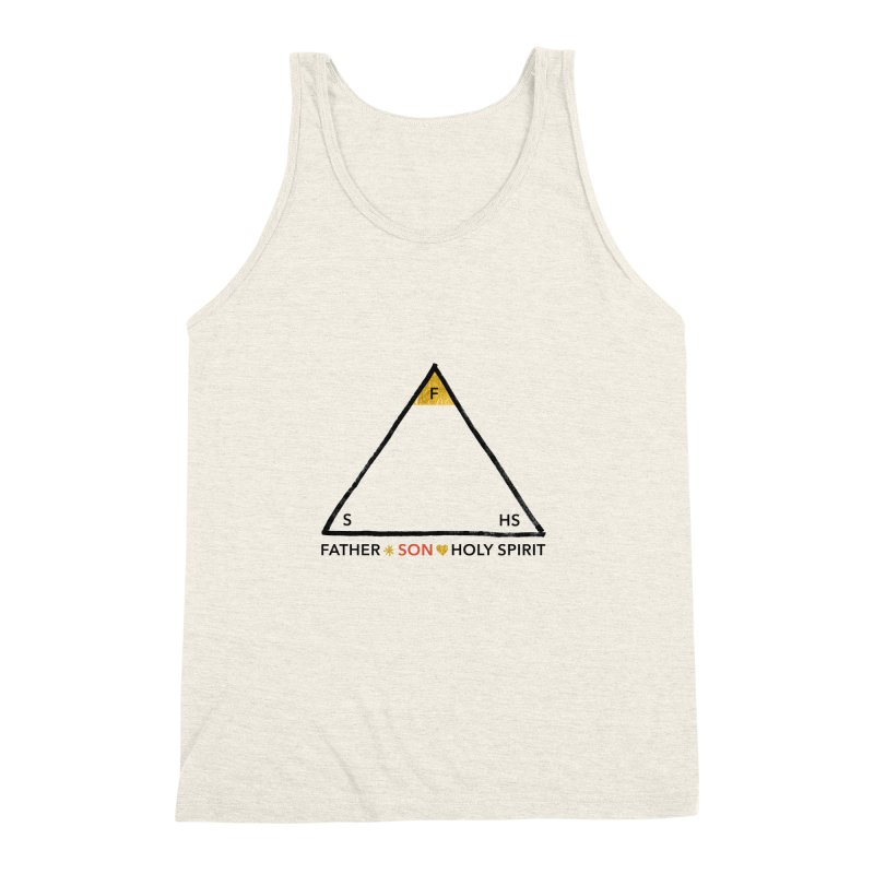 Father. Son. Holy Spirit. Men's Triblend Tank by Doodles Invigorate's Artist Shop