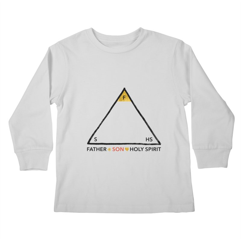 Father. Son. Holy Spirit. Kids Longsleeve T-Shirt by Doodles Invigorate's Artist Shop