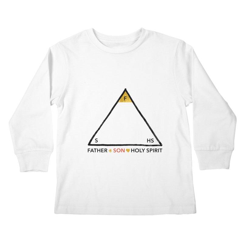 Father. Son. Holy Spirit. Kids Longsleeve T-Shirt by Doodles Invigorate's Artist Shop