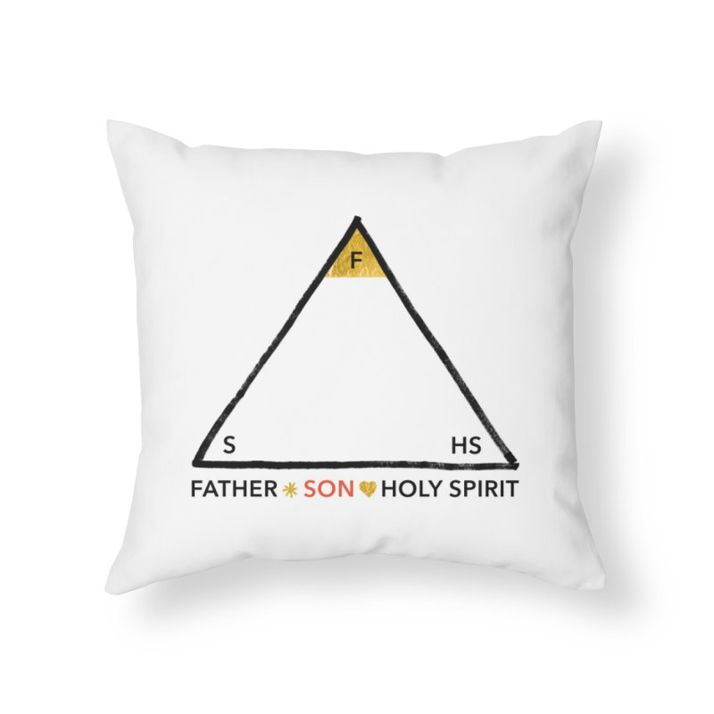 Father. Son. Holy Spirit. Home Throw Pillow by Doodles Invigorate's Artist Shop