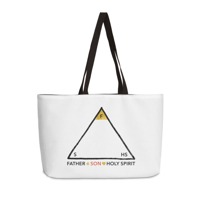Father. Son. Holy Spirit. Accessories Weekender Bag Bag by Doodles Invigorate's Artist Shop