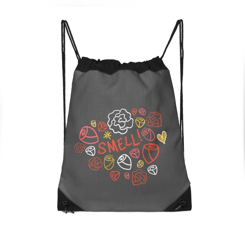 Smell! Accessories Drawstring Bag Bag by Doodles Invigorate's Artist Shop