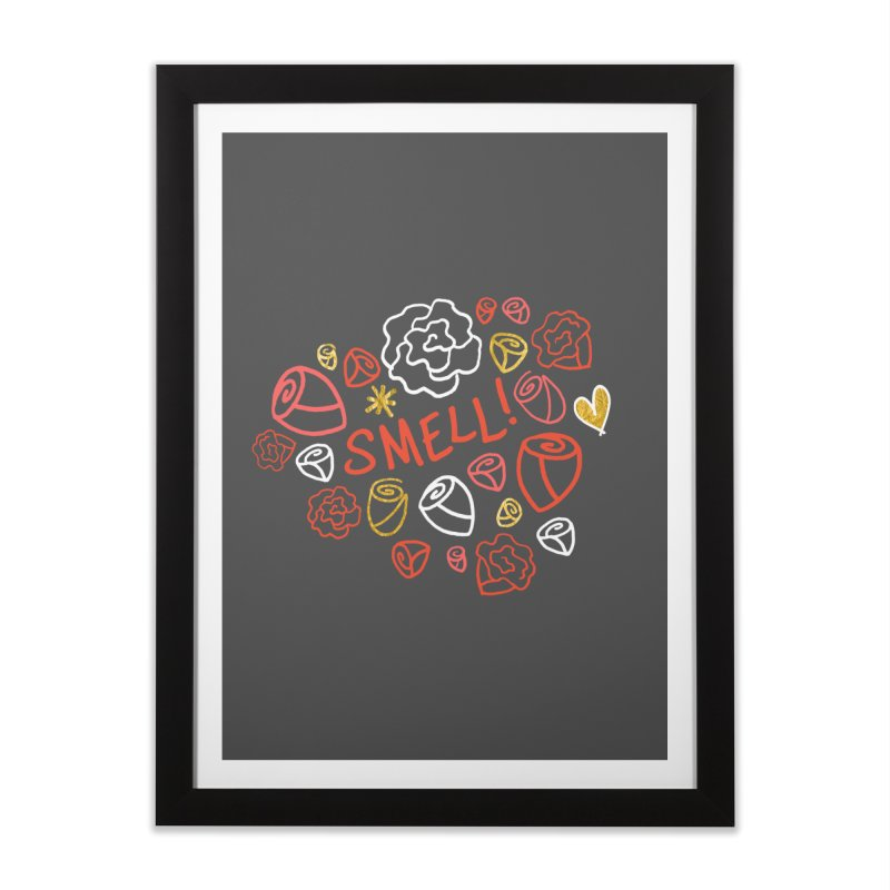 Smell! Home Framed Fine Art Print by Doodles Invigorate's Artist Shop